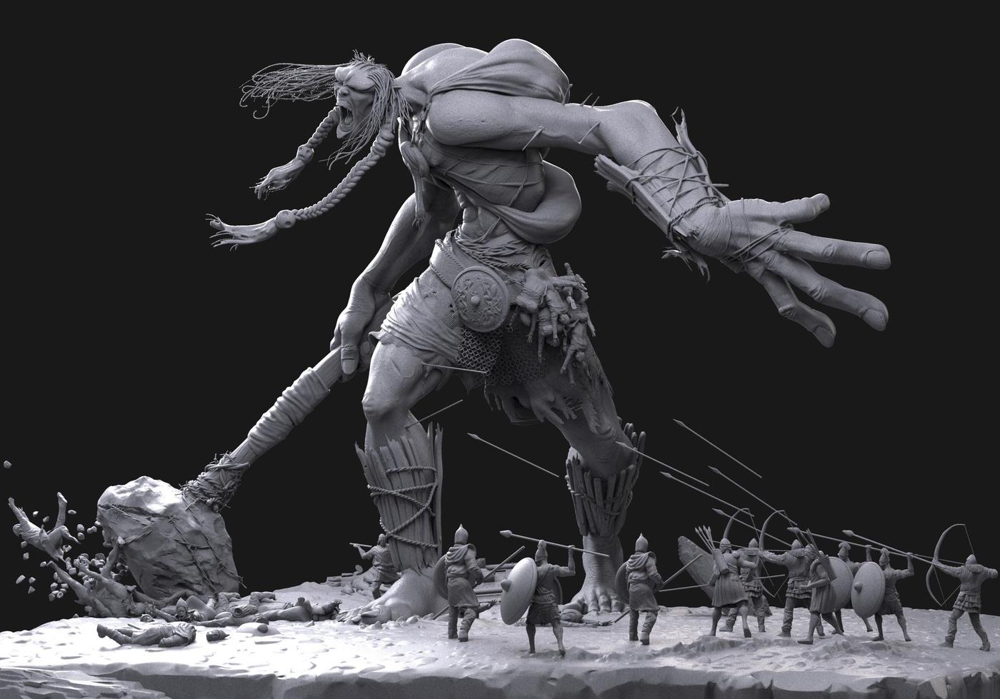 giant battleground warrior  3d