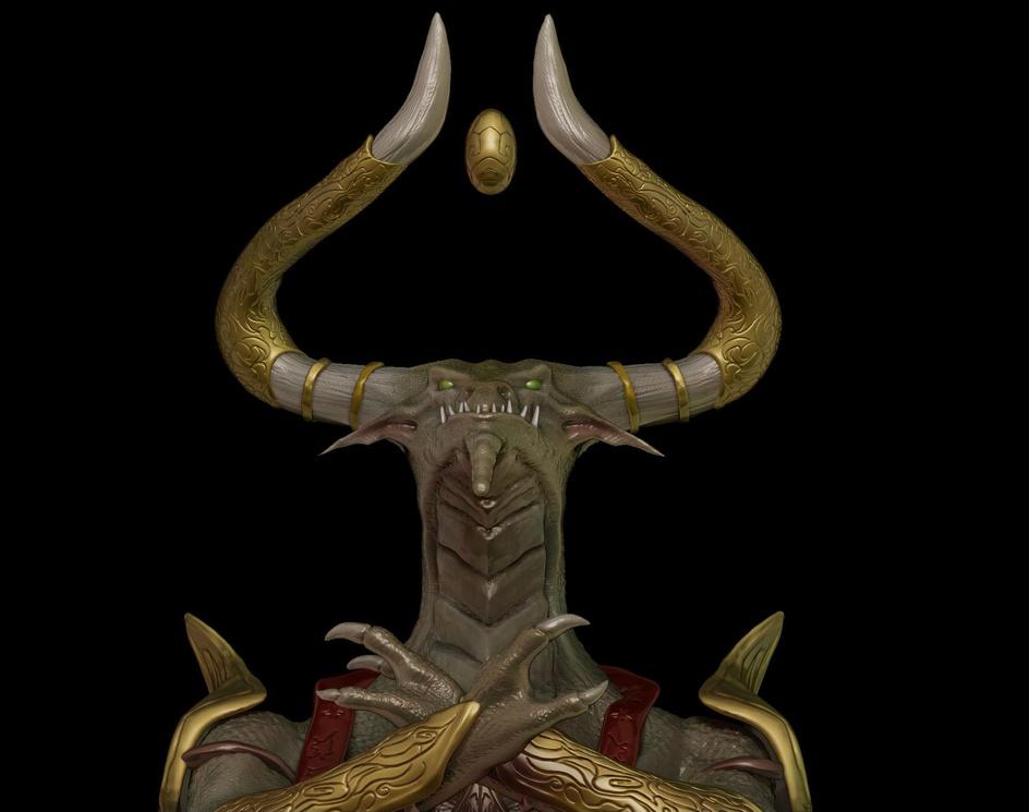 Nicol Bolas god Pharaoh - Fanart - Magic the gatheringby Felipe Bomfim