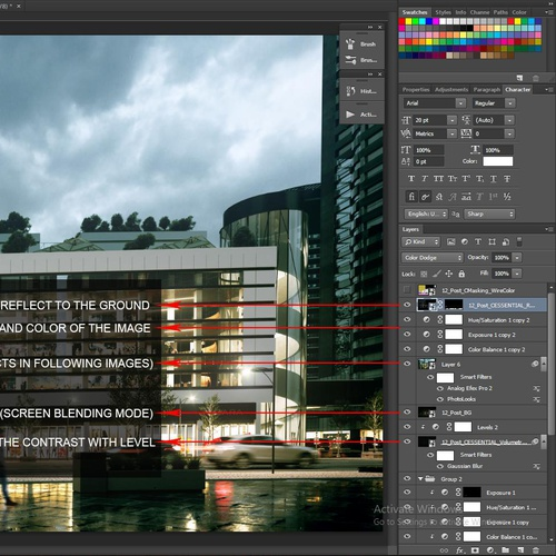 photoshop nighttime view