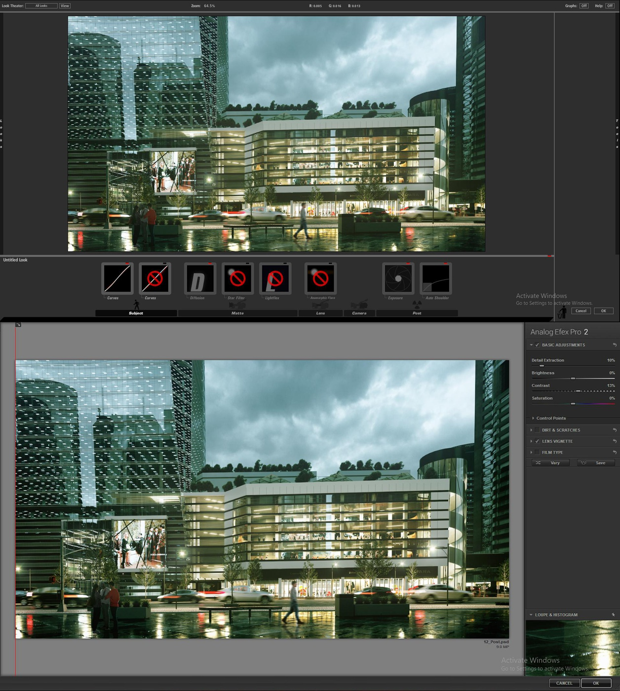photoshop process of nightscape