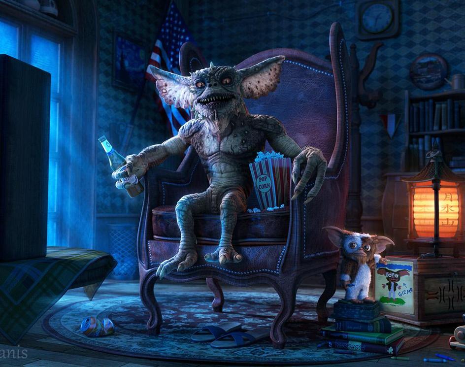 Gremlins, night at home...by Nikolas