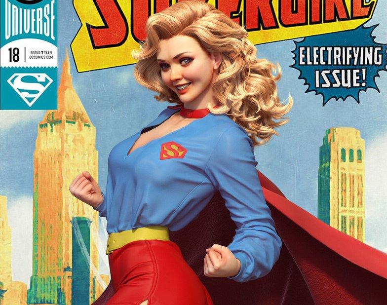 supergirl superhero pinup