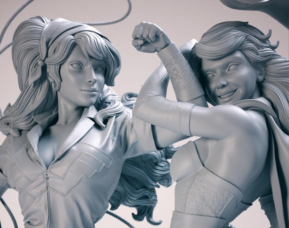 Wonder Woman & Supergirlby Nilberto Tawata