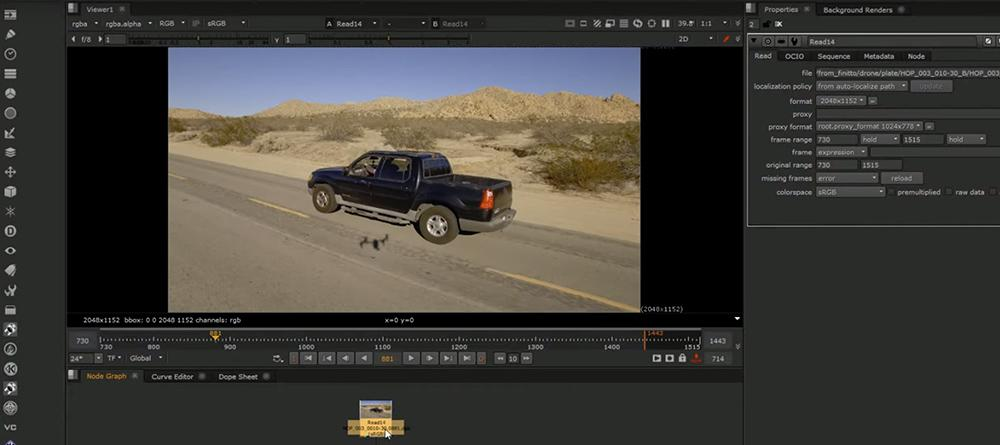 Nuke Tutorial - Remove Drone Shadow from Footage · 3dtotal