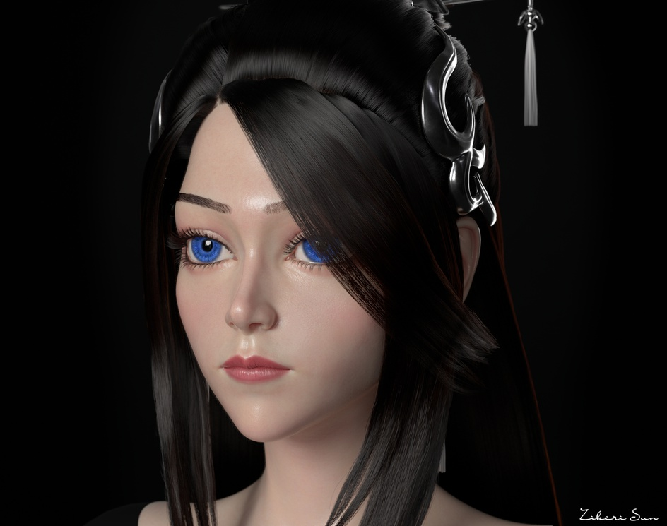Chinese style female costume charactersby This_ZK