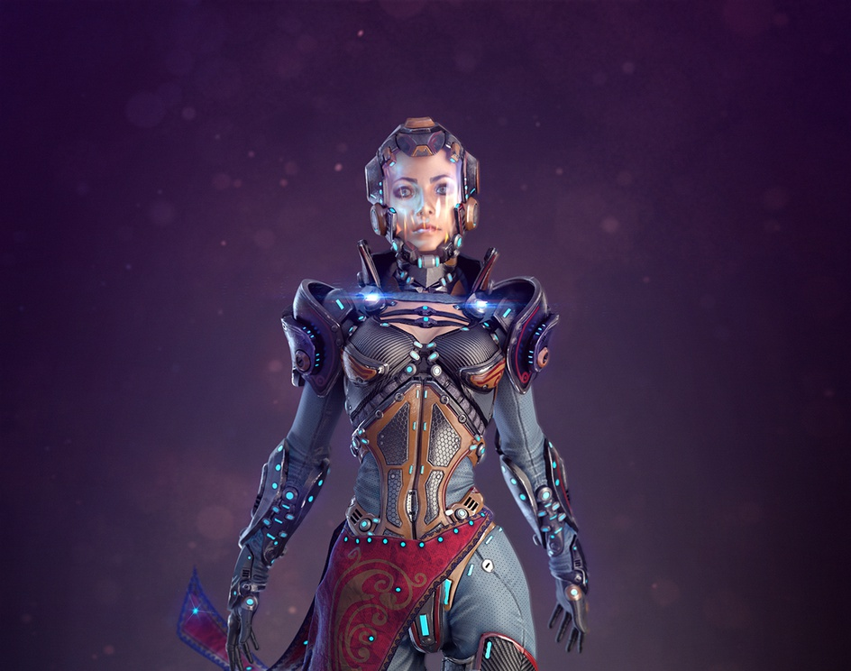 Create photoreal sci-fi characters · 3dtotal · Learn