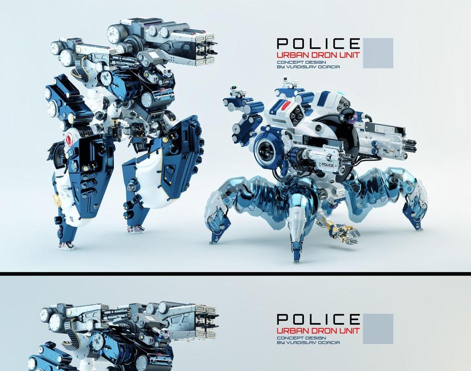 Police drone units | Spidersby ociacia