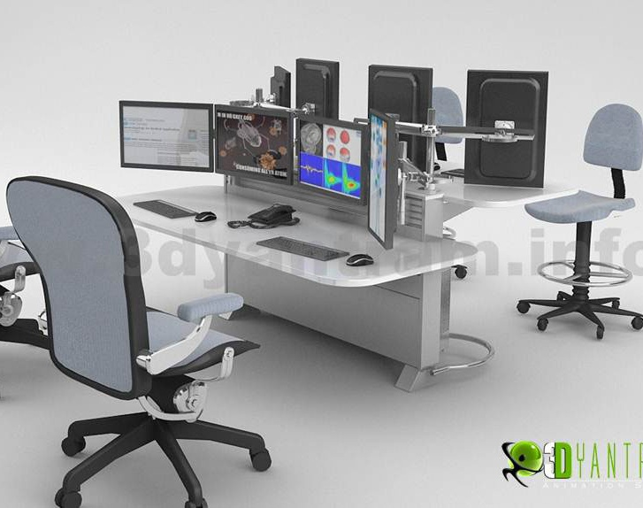 Office furniture  design of 3d Product visualization services by architectural modelling services, Los Angeles -Californiaby Ruturaj Desai