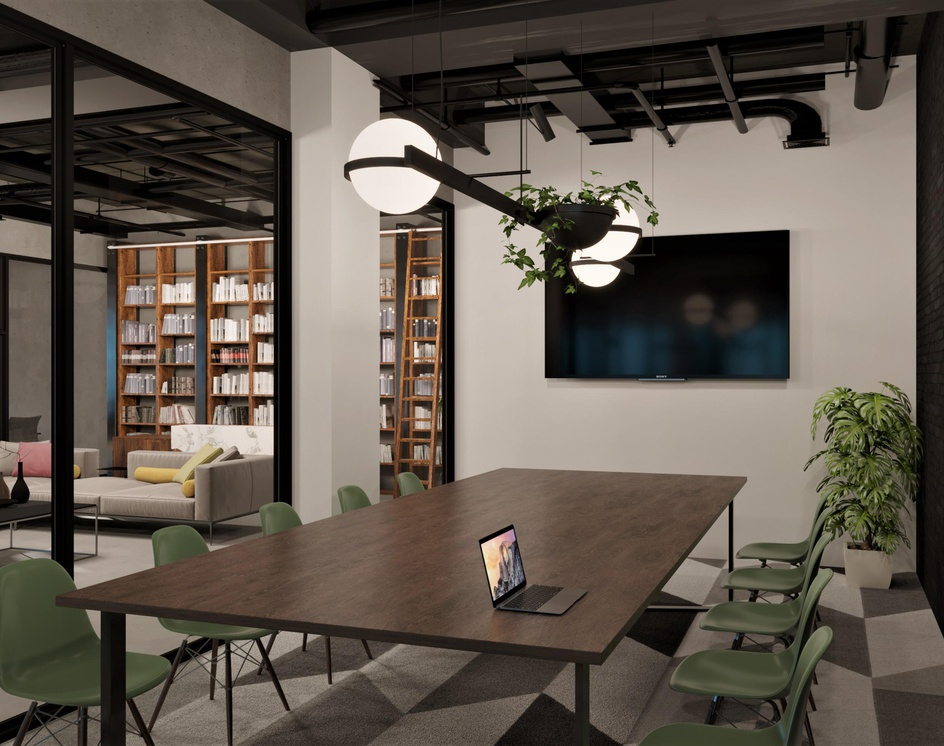 Modern Industrial Office Design By Deer Design 3dtotal Learn Create Share
