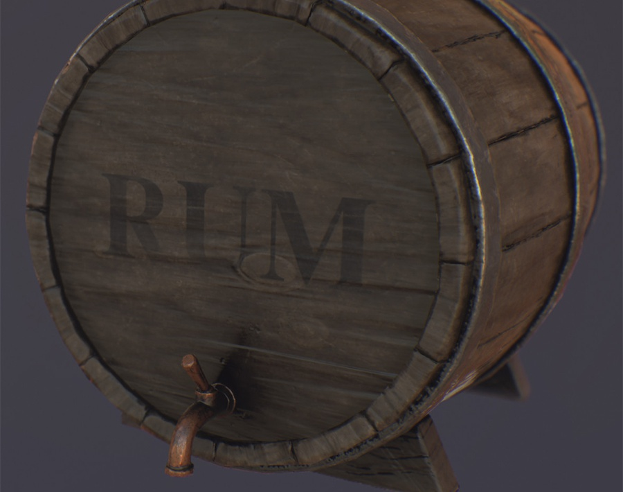 Making of old barrel.by Abnormal 3D