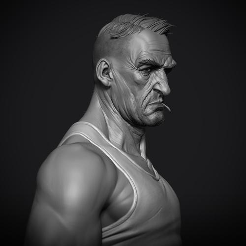3d character male model