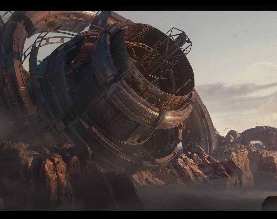 Ancient sci fi structureby josejulian100