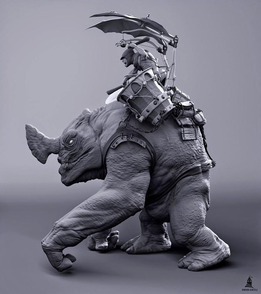 riding a creature model