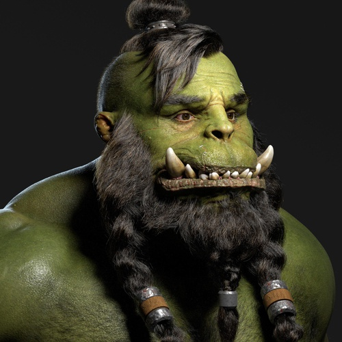 ogre character 3d model design
