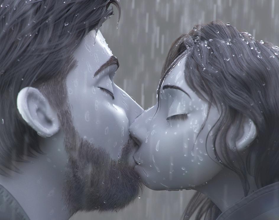 A Kiss in the Rain (3D)by Ricardo Orellana