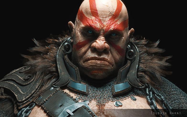 monster, merchant, character design, substance painter, character
