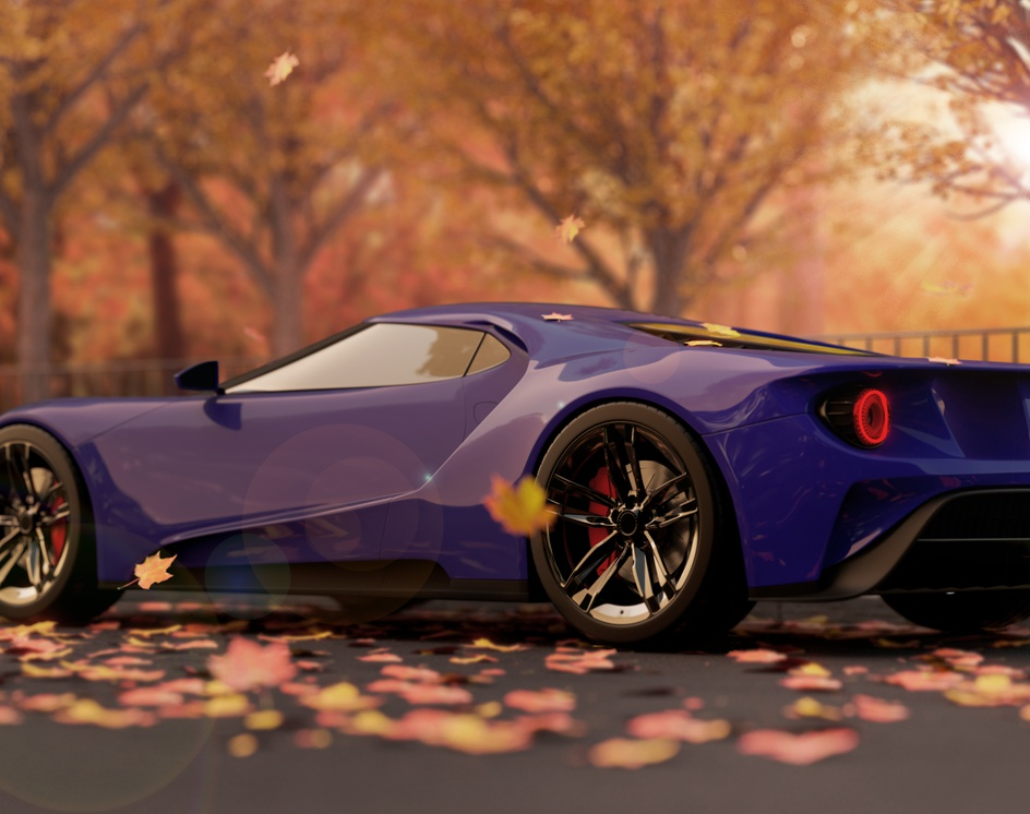 Ford GT 2017 in Autumnby Lucas Kayo