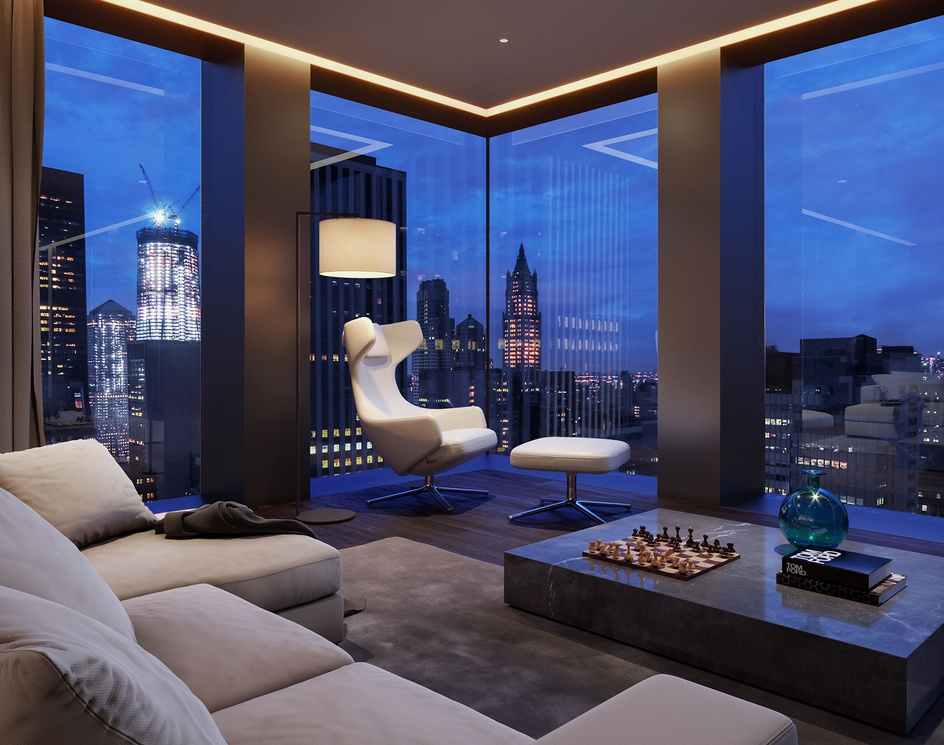 5th Avenue Tower | Living Roomby Oxygen
