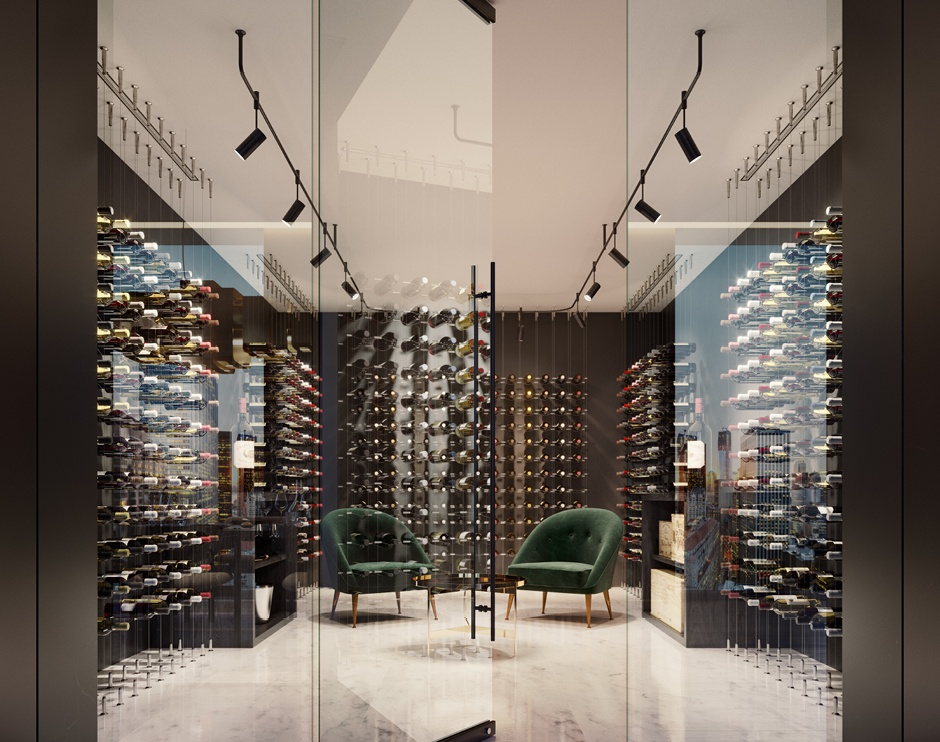 5th Avenue Tower | Wine Cellarby Oxygen