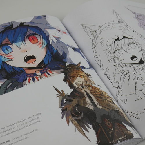 manga anime characters sketching from the imagination