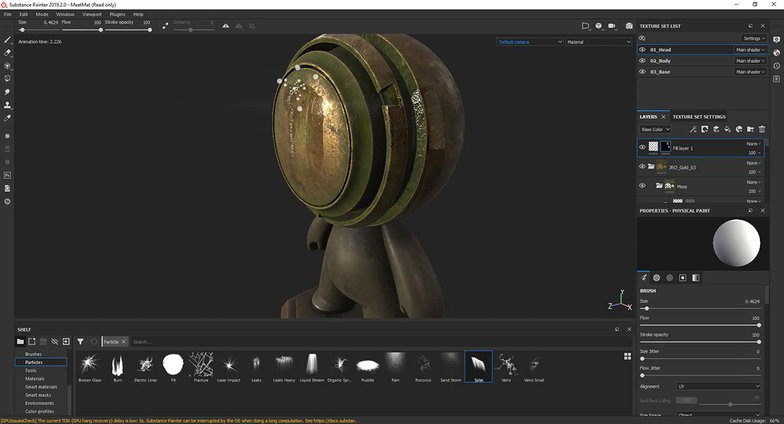 metal character substance painter