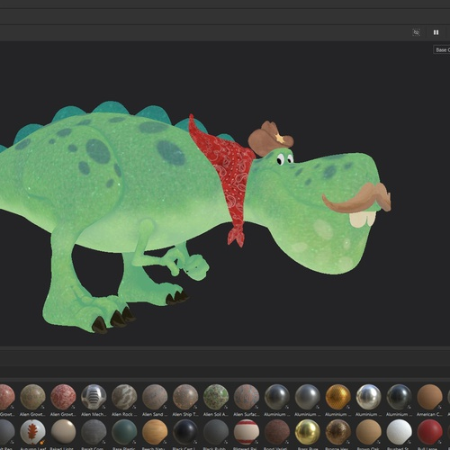 substance design materials creature dinosaur model 3d