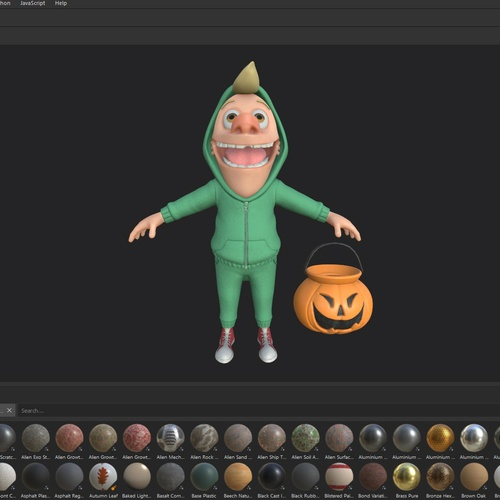 substance design materials character boy kid model 3d