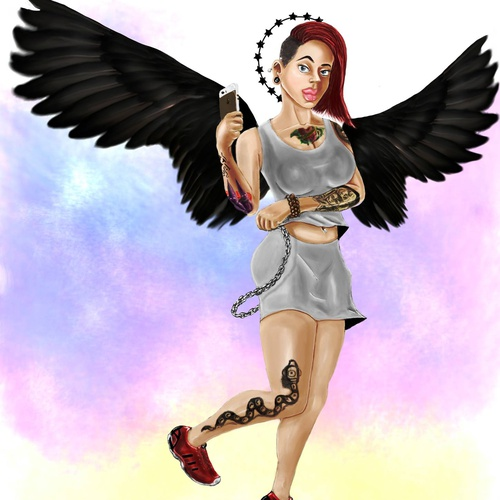 2d illustration digital digital art female character concept design