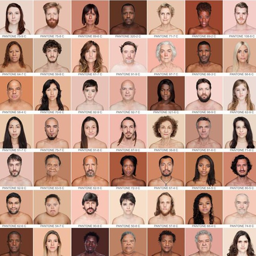 skin colors and tones