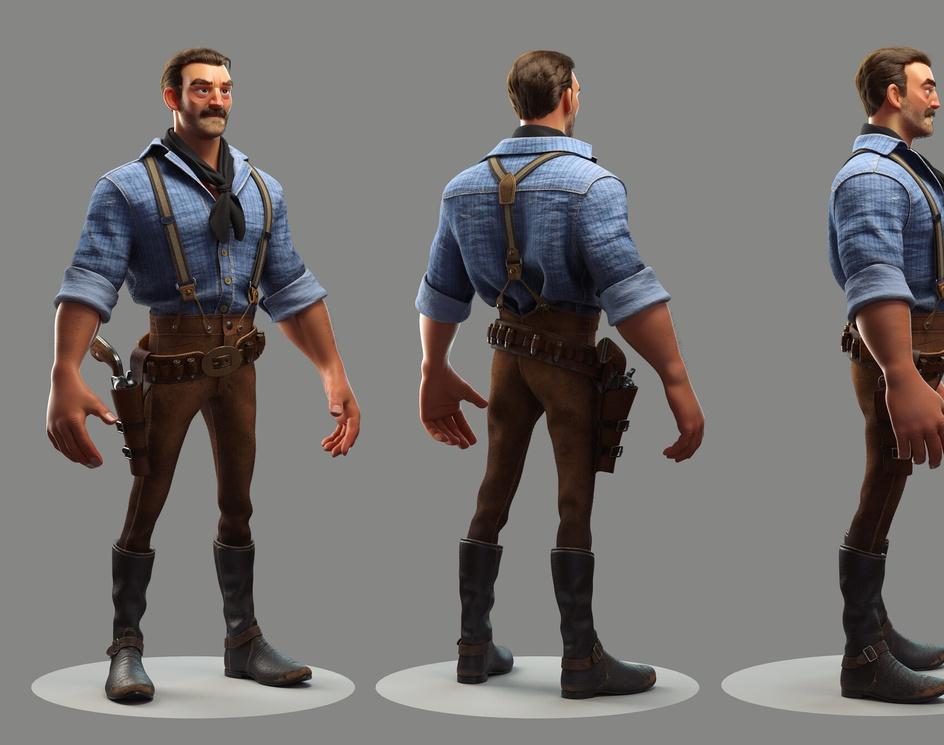 Arthur Morgan - Red Dead Redemption II - Stylized versionby Pau Peñalver