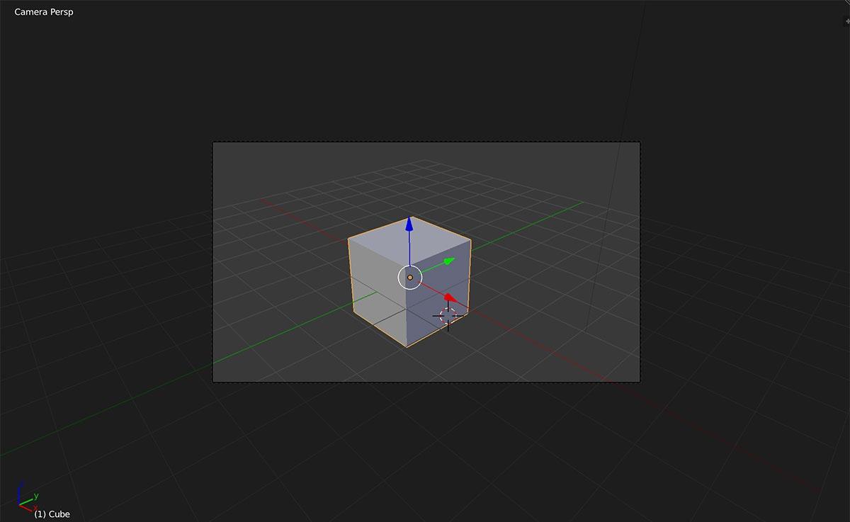 camera perspective modeling in Blender