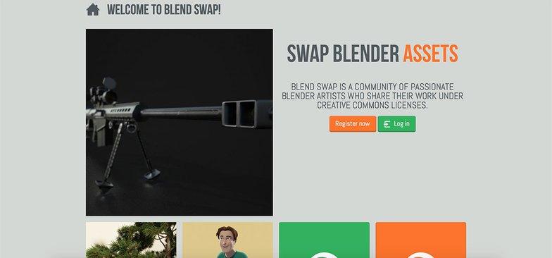Blend Swap homepage