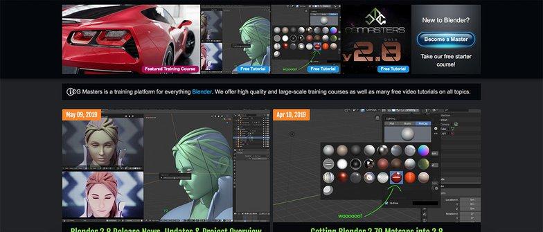 CG Masters homepage