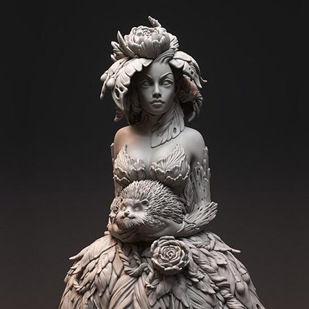 bust, sculpt, Dryad