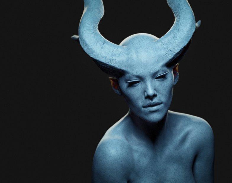 fantasy female creature persephone