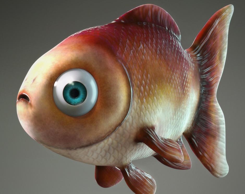 Cartoon Fishby MainBrain Art