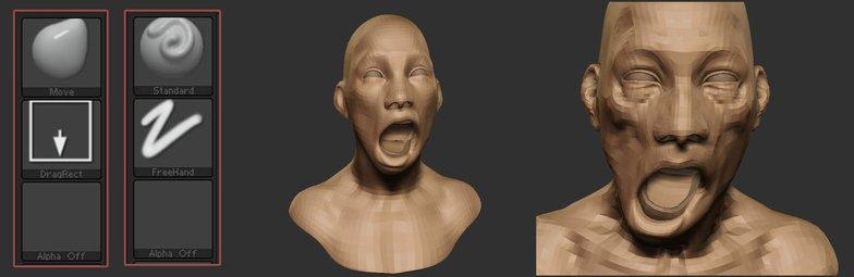 texturing 3d model face