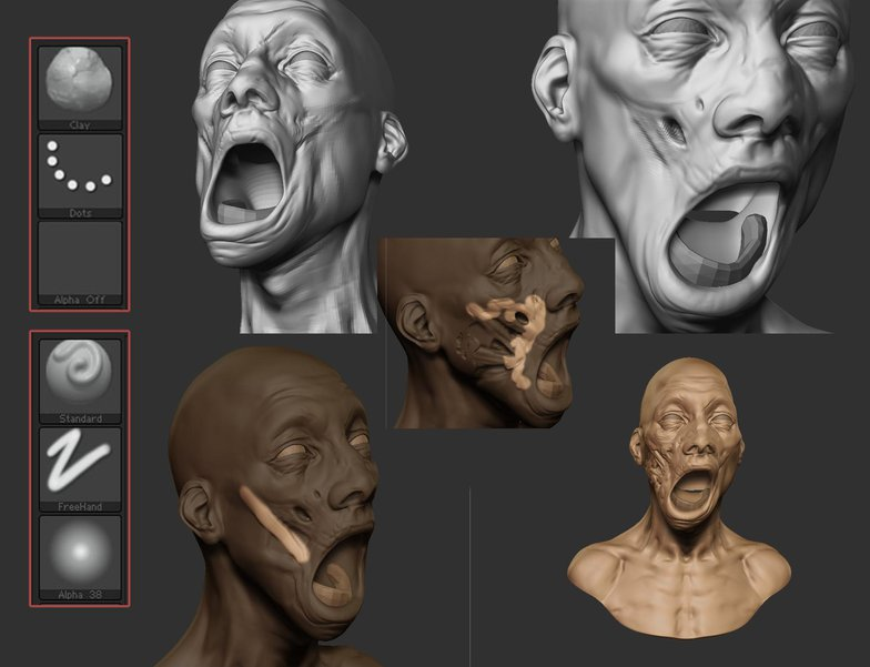 3d model of zombie face
