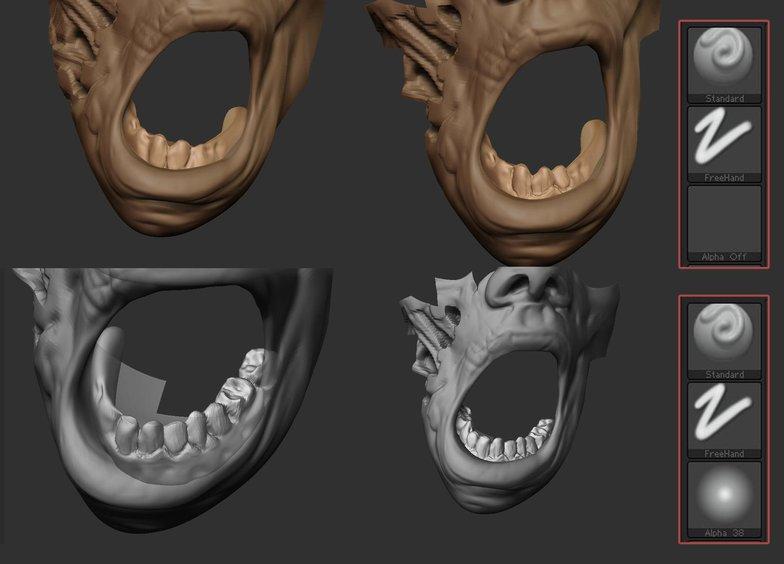 zombie teeth 3d art