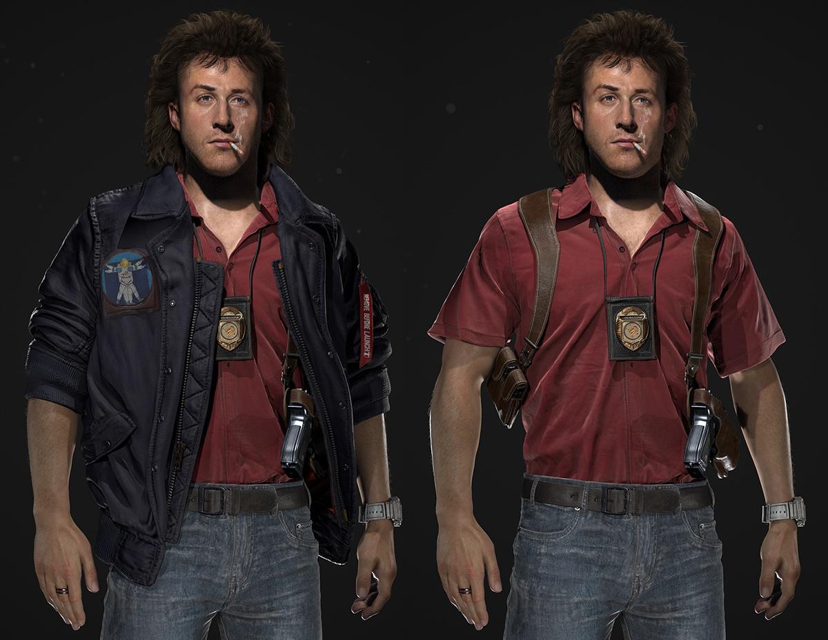 male police officer 3d model