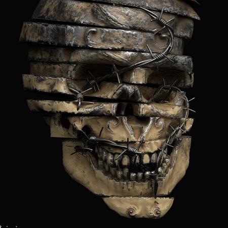 sliced skull