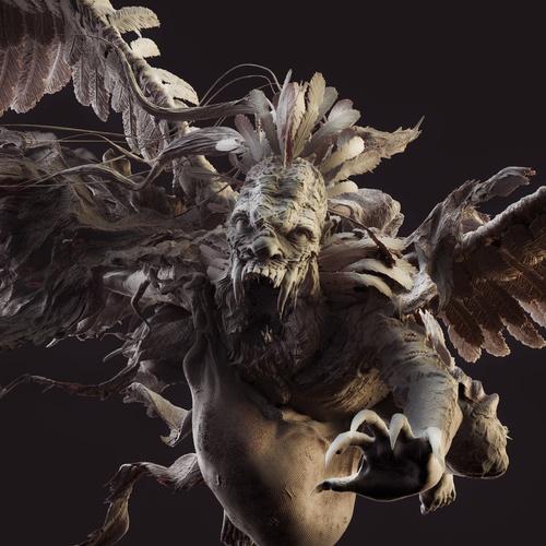 flying horror creature 3d
