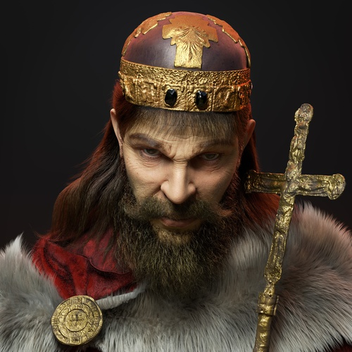 king male character profile 3d