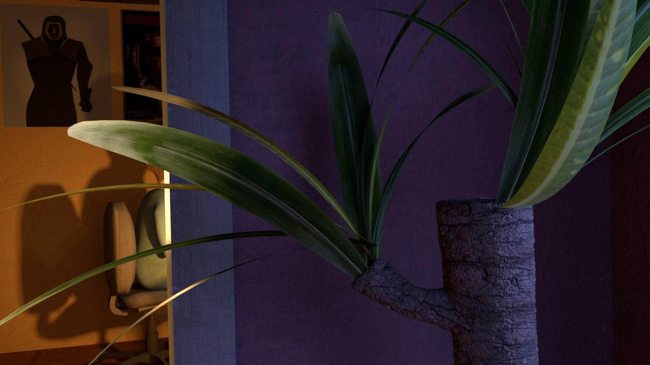 plant texturing maya