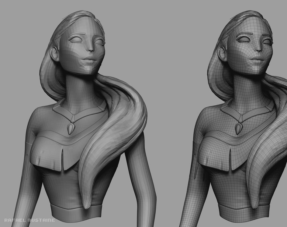 Pocahontas Concept Artby Rafael Mustaine