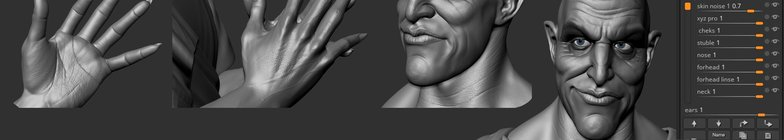 polycount pores hades 3d character model