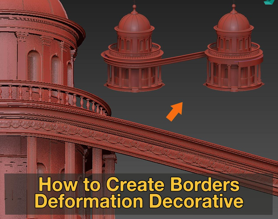 How to create decorative border with path deform in 3dsMaxby Amazing Renders