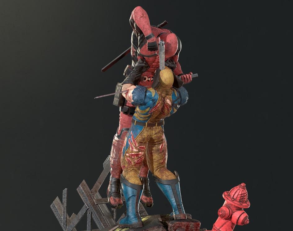 Deadpool x Wolverine Fan Artby Luan Mascarenhas