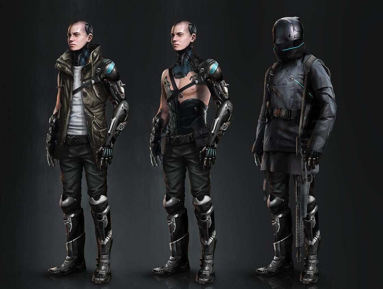 cyberpunk male character design