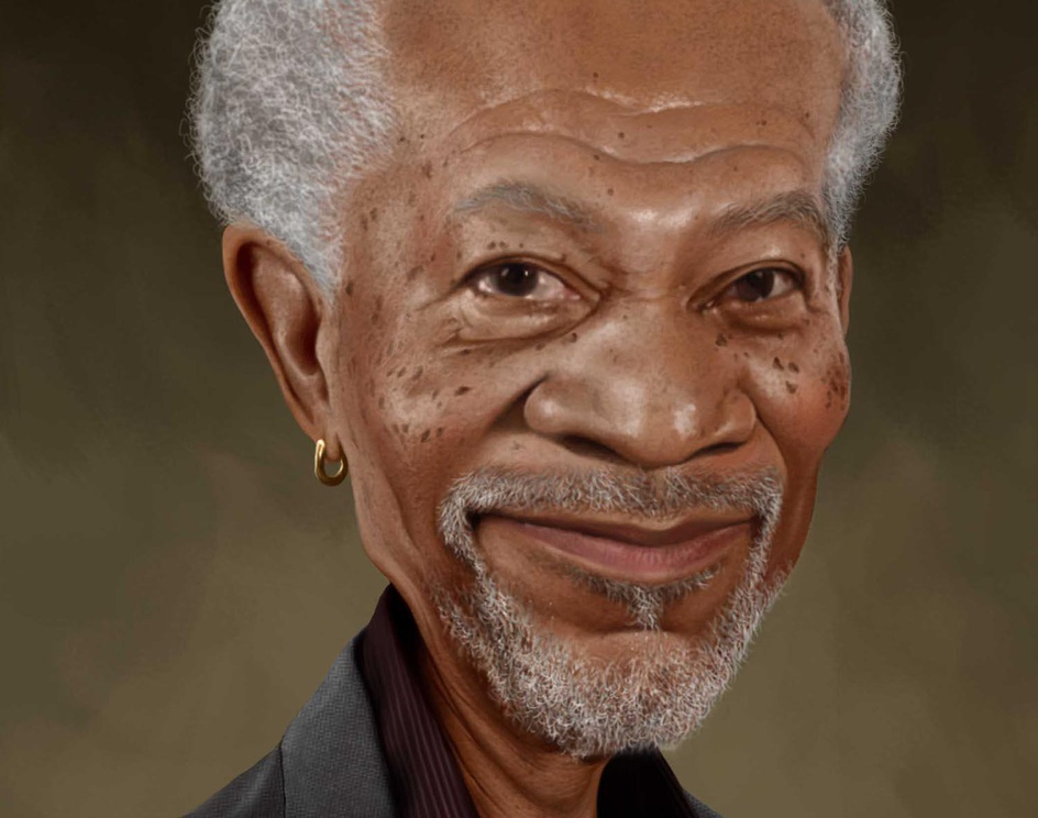 Morgan Freeman Caricatureby Prosenjit Mondal
